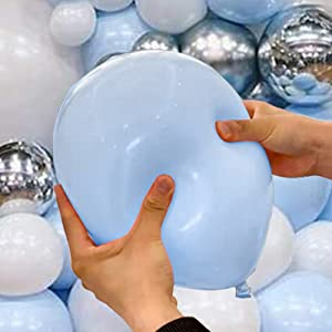 Blue balloons garland arch kit made with latex,not easy to explode for baby shower birthday party