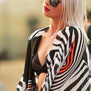zebra beach cover up