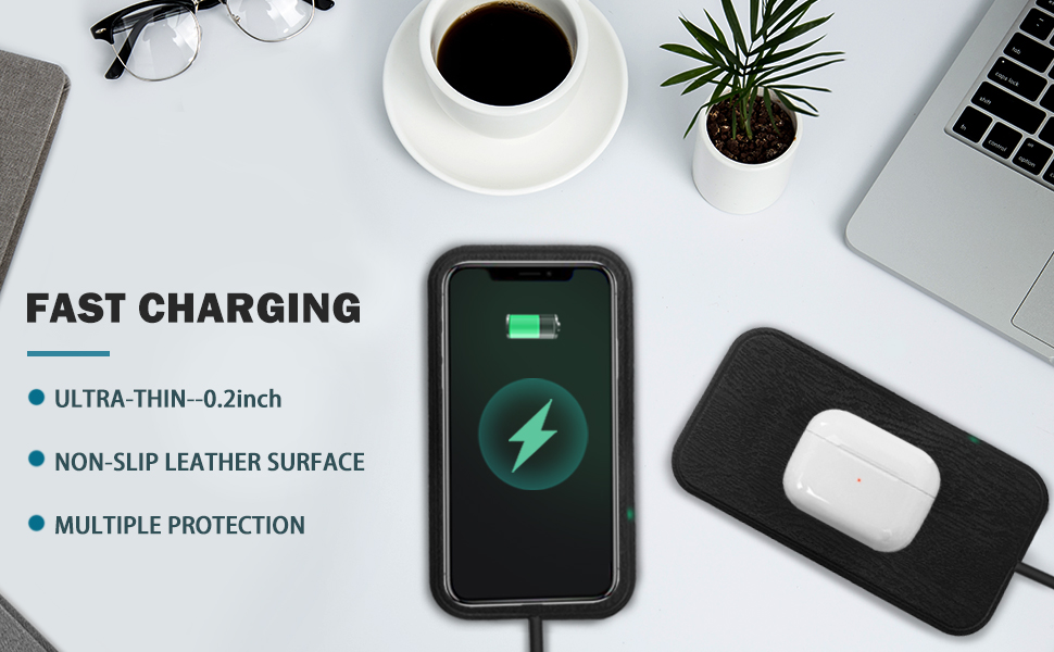 wireless fast charging car with adapter 10w