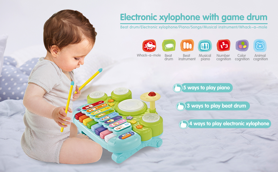3 in 1 musical piano toy