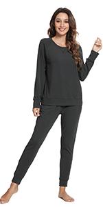 women bamboo jogger running pants soft workout sweatpants pajama top loungewear t shirt
