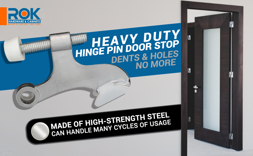 heavy duty hinge pin door stop dents and holes no more made of high strength steel