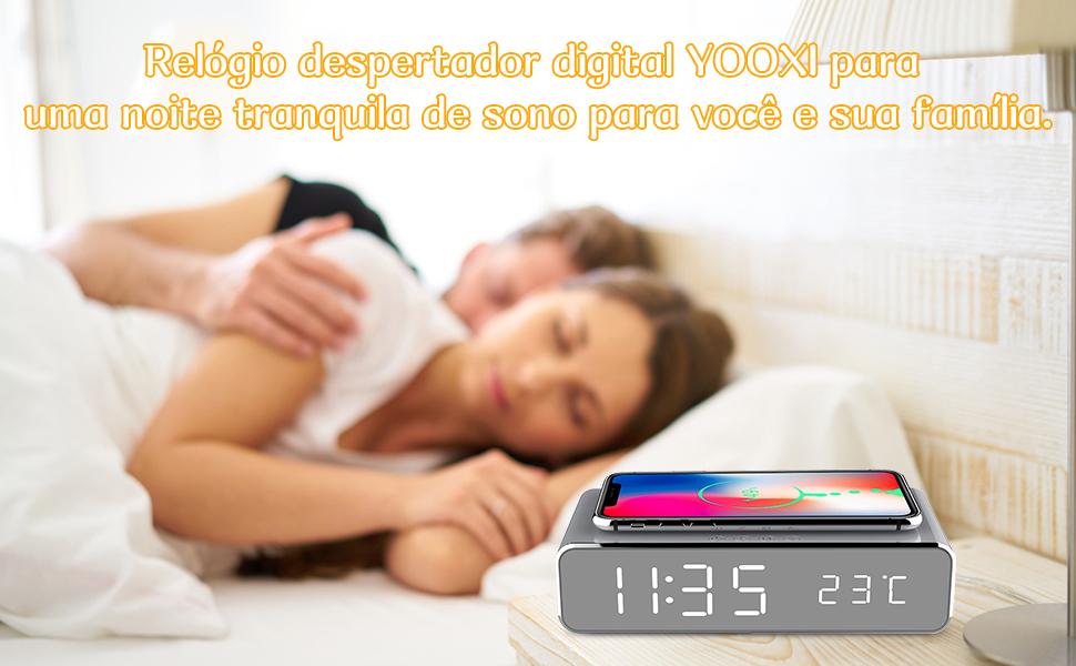 despertador digital de cabeceira