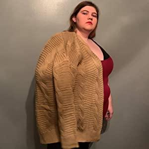 Cardigans de punto con parte delantera abierta Prendas de abrigo para mujer