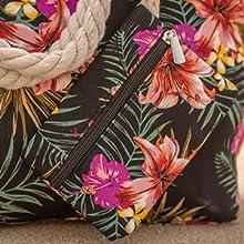 Große Strandtasche mit kleiner Tasche