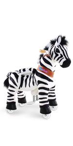 mechanical riding horse toy ride on zebra
