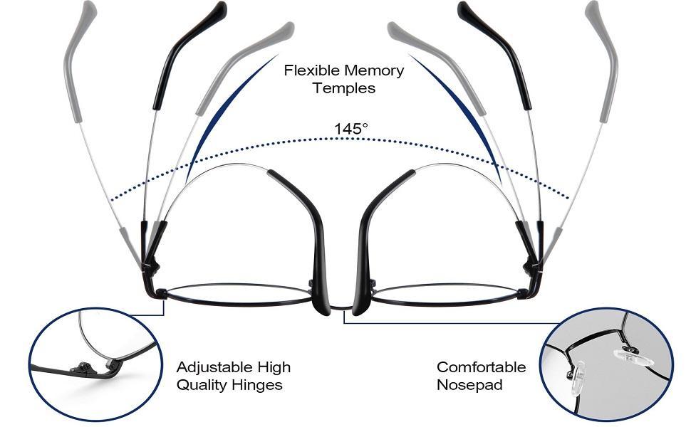 blue light blocking glasses features