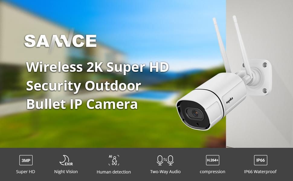 Wireless wifi ip security camera outdoor