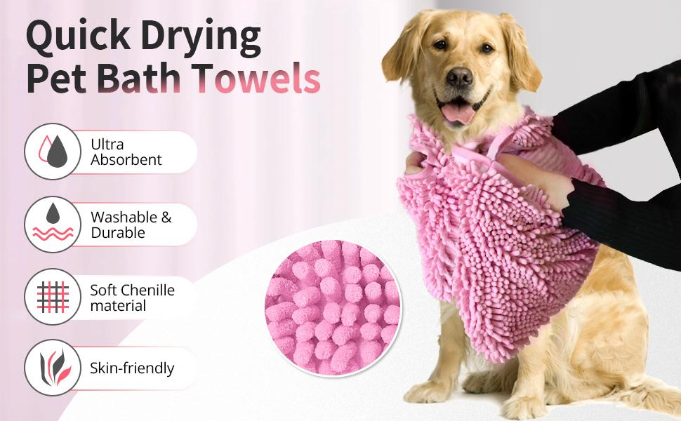 Dog Towels for Large and Xlarge Dogs