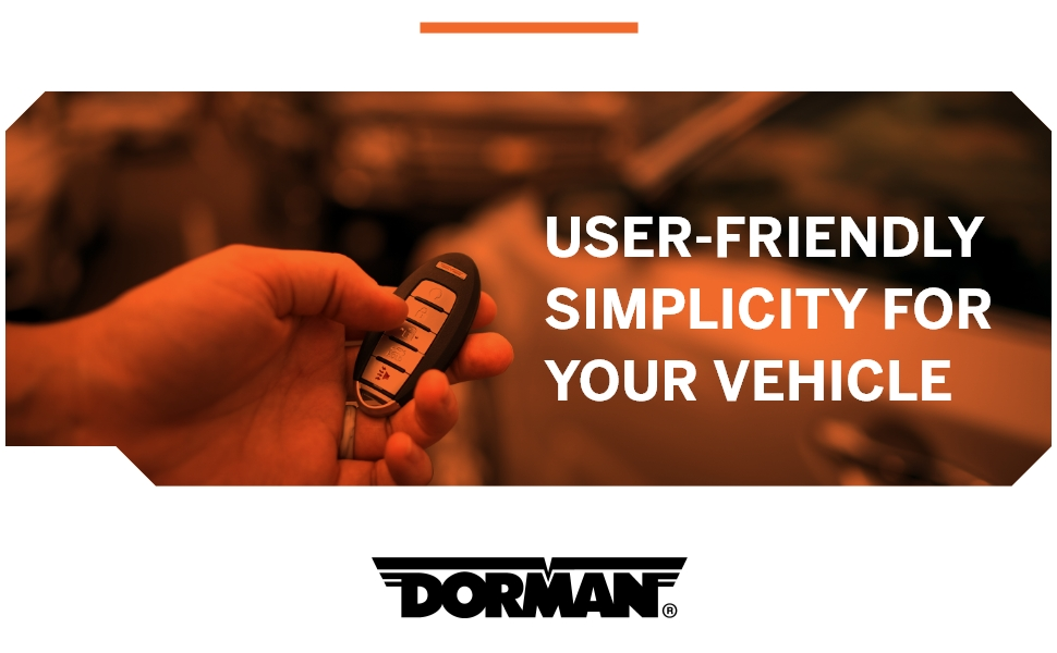 User-friendly simplicity for your vehicle