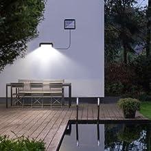 Outdoor solar garden light, outdoor solar wall lights waterproof security solar lights