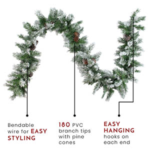 Angel Pine faux garland example