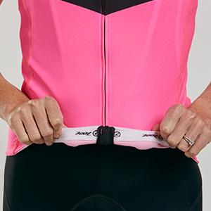 Women's cycling jersey with gripper