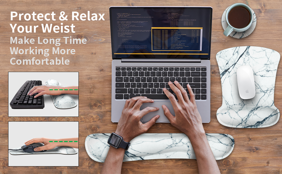 Provides a soothing sensation and relaxation while typing