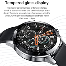Tempered Glass Display Watch