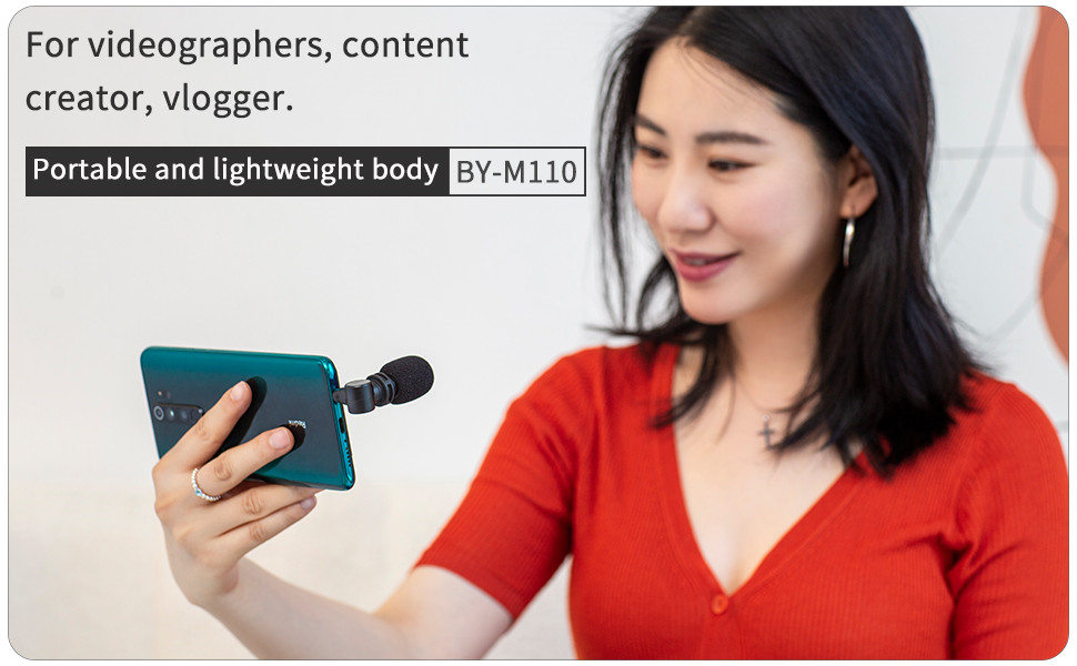 Smartphone 3.5mm TRRS Microphone, BOYA BY-M110 Mic with Omnidirectional Condenser for Android