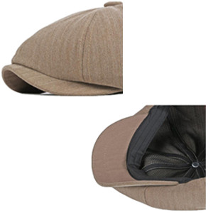 Peaky newsboy cap for men