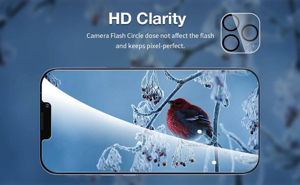 iphone 6.1 inch camera lens protector hd clear