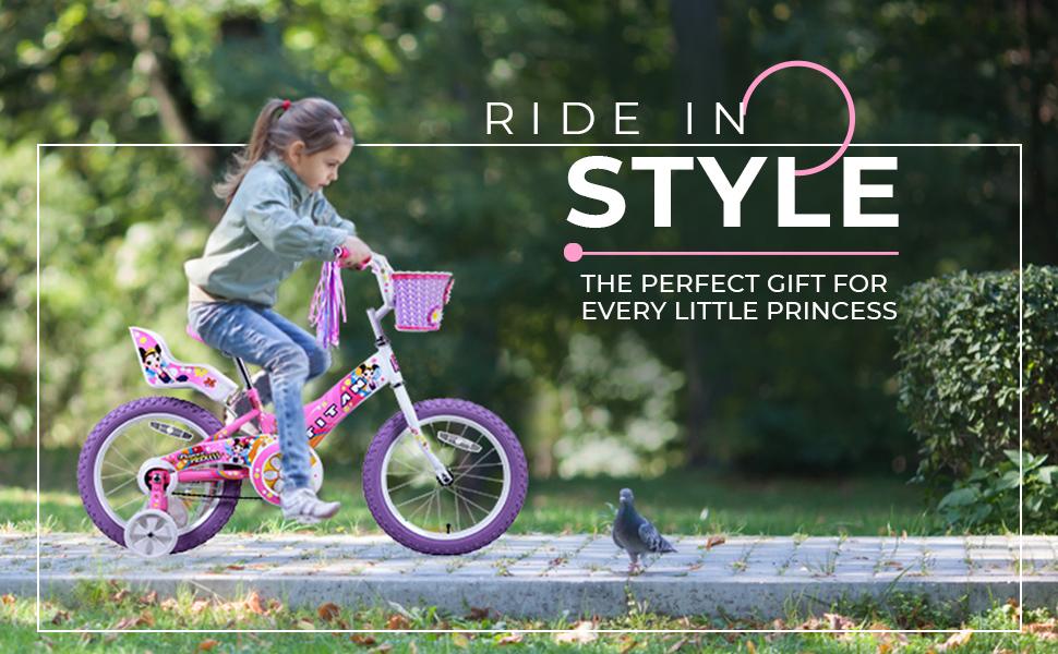 girls bmx bike bicycle girl kids christmas birthday gift first dolls basket streamers play fun love