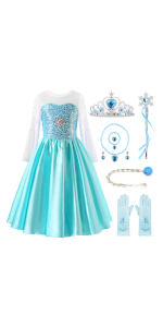 ReliBeauty princess Elsa costume for girls