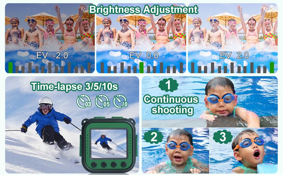 Multifunctional children's waterproof camera