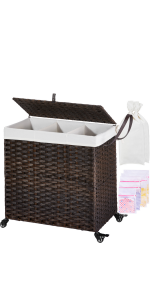 laundry hamper with wheels clothes hamper with lid
