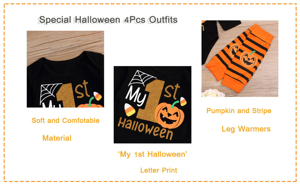 4pcs halloween clothes for baby girl