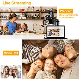 Youtube camera for vlogging with wifi