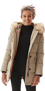 Molemsx Women's Winter Warm Thicken Long Outwear Coat Parka Jacket