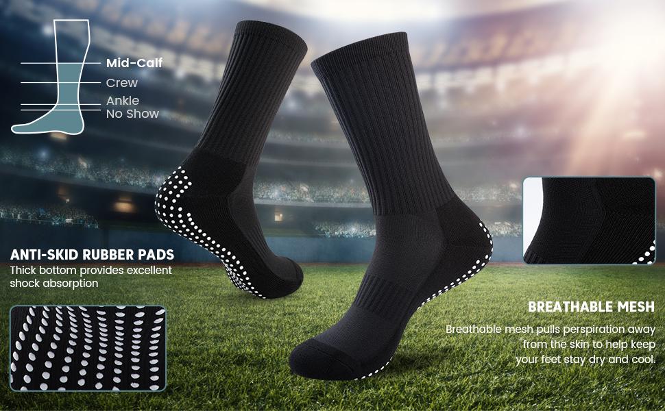 black football socks football grip socks    white football socks