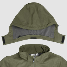 men softshell jacket with hooded