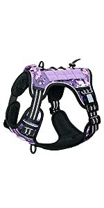 purple tactical dog harness
