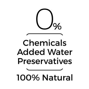 Zero Chemicals, Added Water & Preservatives