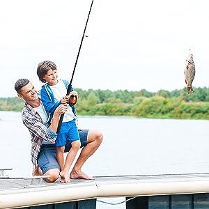 pulling a fish