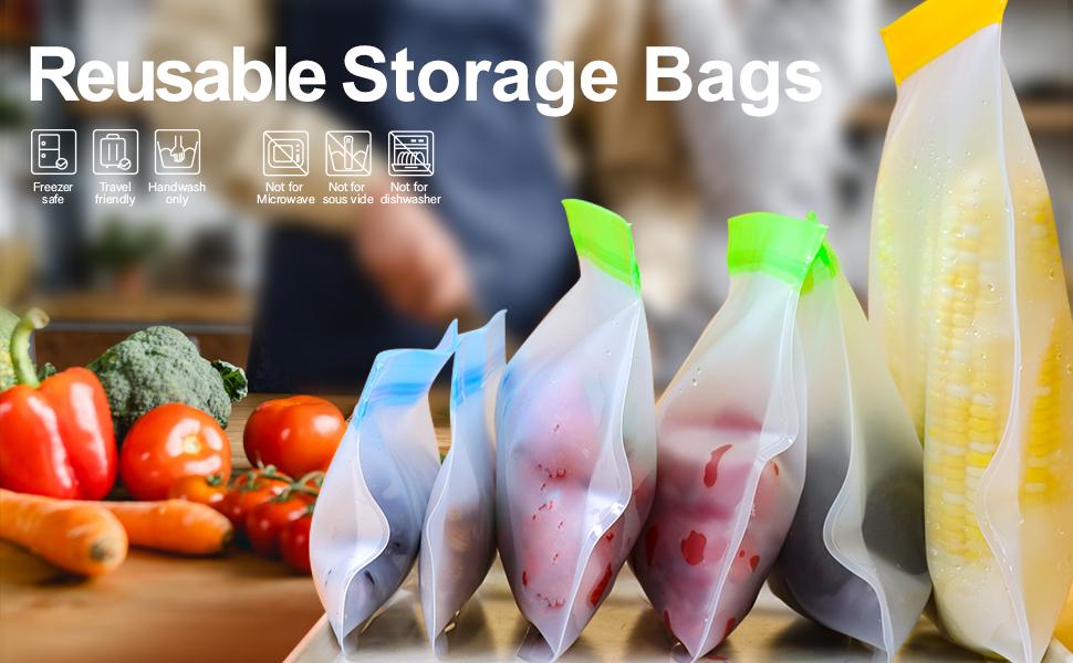 Tangibay Reusable Freezer and Food Storage Bags