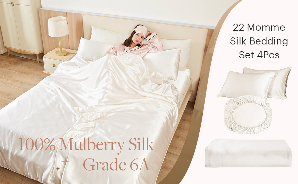 22 momme silk bedding set