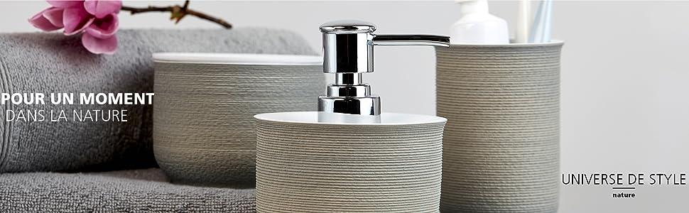 nos accessoires d'ameublement de salle de bain individuels et nos séries d'articles de salle de bain