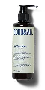 GOODamp;amp;amp;ALL tea tree mint shampoo for itchy scalp and dandruff