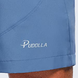 pudolla mens lightweight running shorts