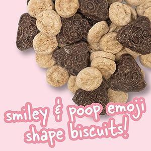 Smile and Poop Emoji Shaped