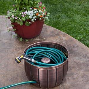 Hose Pot, Gardening Storage, Indoor Storage, Outdoor Storage, Hidden Storage, Hose storage, organize
