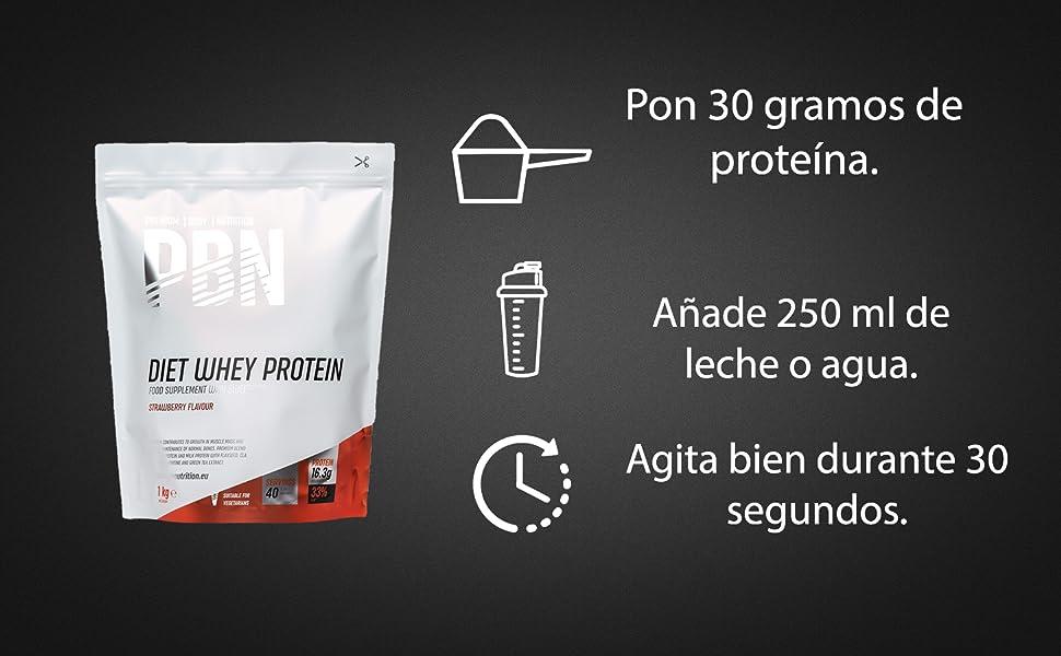 PBN Premium Body Nutrition - Paquete de proteína de suero de leche light, 1 kg, sabor Vainilla