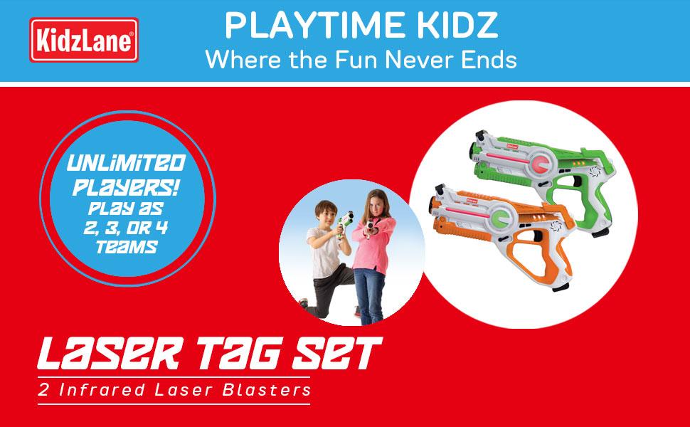 Kidzlane laser tag 2 pack laser tag outdoor games outdoor toys boys toys backyard toys summer toys