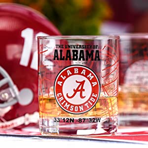 University of alabama glasses Alabama football Roll tide roll KE-ANME-JERY