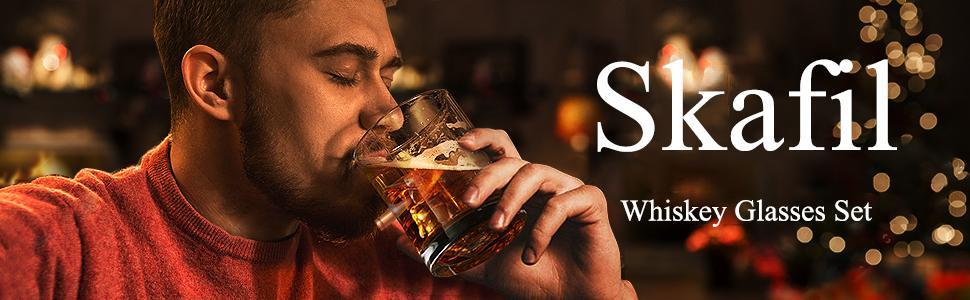 Skafil Whiskey Glasses Set of 4