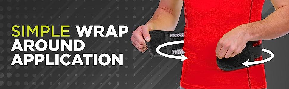 wrap around athletic back brace