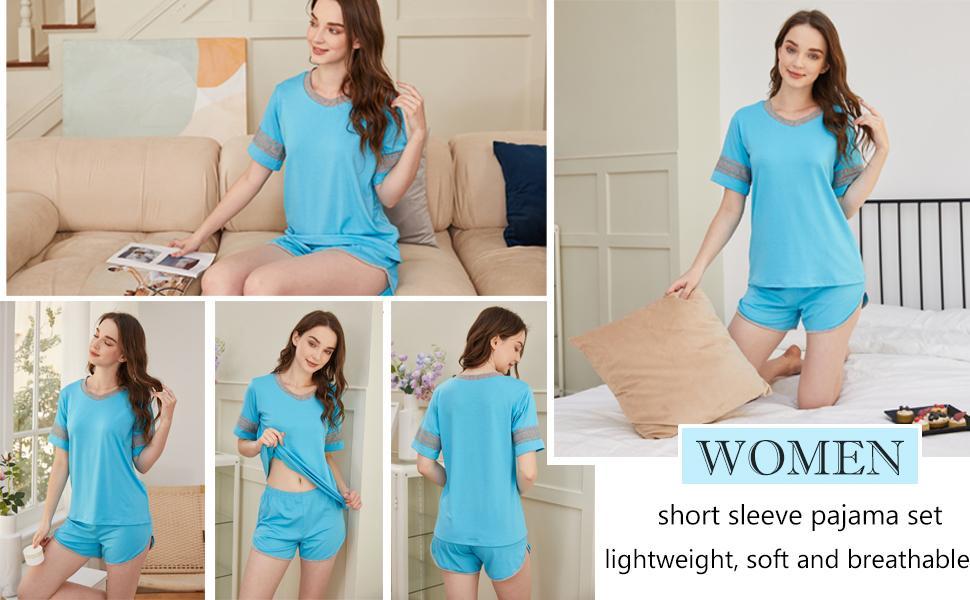 short sleeve sleepwear pj set