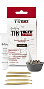 for men women tint kit hair color coloring dye grey roots sideburns mustache beard henna brows kit