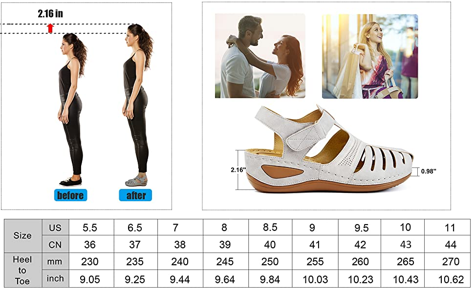 leather closed strappy platforms size footwear walking flatform arch support comfort beach ladies
