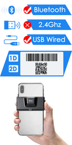 Eyoyo back clip barcode scanner 2d